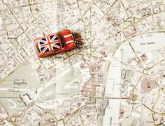 Union Jack - Mini Cooper on the London Map Oh The Places You'll Go, Places To Travel, Travel Stuff, Travel Destinations, British Things, London Map, London Travel, Cuba Travel, In Vino Veritas