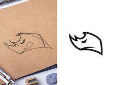Rhino designed by Cosa Nostra. Design Art, Web Design, Logo Design, Barbarian Dnd, Rhino Logo, Logo Branding, Logos, Music Logo, Personal Logo