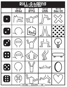 Roll-A-Haring Keith Haring Dice Game - Art Education ideas Kunst Picasso, Art Picasso, Pablo Picasso, Keith Haring Kids, Classe D'art, Art Worksheets, Ecole Art, Drawing Games, Drawing Art