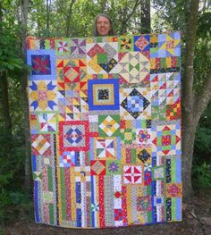 Gypsy Quilt... colors remind me of a crayon box