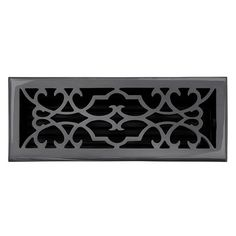 "This dark bronze finish solid brass floor register heat vent cover with a victorian scroll design fits 4"" x 12"" x 2"" duct openings and adds the perfect accent to your home decor."