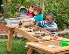 Outlast Cascade: running water for loose parts! Outlast Cascade: running water for loose parts! You can find Running and more o. Kids Outdoor Play, Outdoor Play Spaces, Outdoor Learning, Outdoor Fun, Backyard Playground, Playground Ideas, Preschool Playground, Water Playground, Backyard Ideas