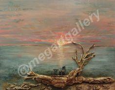 Artist: Vasiliki Antonopoulou Title: sunrise on the island mixed media Joomla Templates, Sunrise, Mixed Media, Sea, Island, Gallery, Artist, Painting, Painting Art
