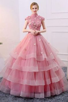 Unique pink tulle long prom dress, pink evening dress Source by martinagenn Pink prom dresses Evening Dresses With Sleeves, Indian Gowns Dresses, Blue Evening Dresses, Unique Prom Dresses, Pink Prom Dresses, Trendy Dresses, Winter Dresses, Beautiful Dresses, Quinceanera Dresses