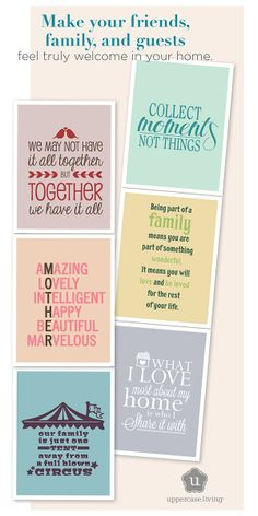 Home and family. @Uppercase Living - vinyl wall decal add your own personal touch with one of these heartfelt, humorous, and customizable expressions. #UppercaseLiving