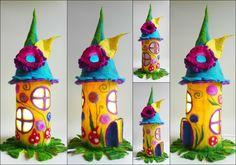 lampe de fées feutrée , les enfants , la lumière la nuit, conte de fée, fabriqué à la main, jaune, turquoise,rose