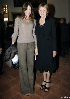 Carla Bruni and her mother Marisa Borini