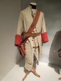 "French regimental soldier uniform from ""Barry Lyndon"" - In other words: a movie costume version of a French regular's uniform from the Seven Years War. Not every day I get to see that!"