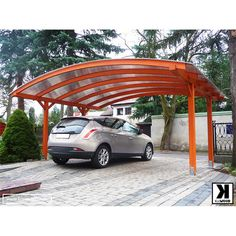 lowes metal 2 car rain shed shelter sun shade aluminum double used carport for sale Modern Carport, Double Carport, Front Yard Design, Garage Design, Carport Designs, Carport Ideas, Carports For Sale, Wooden Carports, Portable Carport