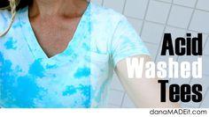 TUTORIAL: Acid Washed Tees | MADE