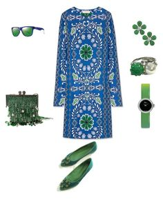 """""""Blue Flower"""" by sylviesaidane on Polyvore featuring mode, Tory Burch, Azzaro, Siman Tu, Christian Dior et Smith"""