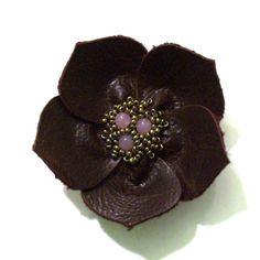 Custom Leather Flower for noids ❤ by Viridian on Etsy