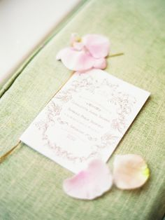 Vintage-style stationery designed by Rose & Ruby Paper Co