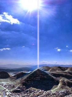 A team of physicists detected an energy beam coming through the top of the Bosnian Pyramid of the Sun. The radius of the beam is 4.5 meters ...