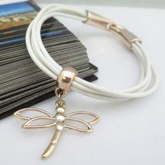 $3.30 Chic Women's Openwork Dragonfly Pendant Design Bracelet