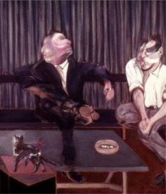 """24hoursinthelifeofawoman: """" Portrait of George Dyer and Lucian Freud by Francis Bacon. """""""