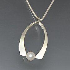 Silver & Pearl Necklace by Susan Panciera