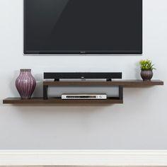 "Martin Home Furnishings Ascend 60"" Asymmetrical Wall Mounted TV Component Shelf & Reviews | Wayfair"