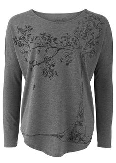 People Tree   Tree Tee in Grey @People magazine magazine Tree Love this casual top.  Would pair with black jeans and shoes. #fashiontakesaction