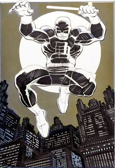 the Daredevil Portfolio, by John Romita, Jr. Marvel Comic Character, Daredevil Art, Comic Books Art, Cool Art, Romita, Jr Art