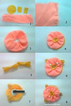 hair accessories do it yourself on pinterest hair accessories diy hair and fabric flowers. Black Bedroom Furniture Sets. Home Design Ideas