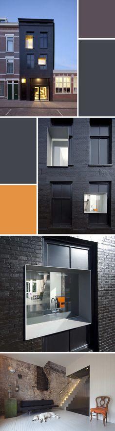 Row house renovation: 'De Zwarte Parel' (The Black Pearl) in Rotterdam, by Studio Rolf.fr and Zecc architecten