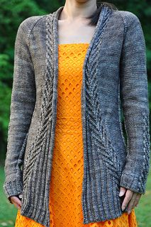 Ink, knitting pattern for sweater