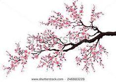 Resultado de imagen para como pintar un cerezo japones en la pared