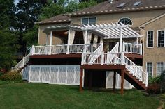 Covered deck with pergola  Archadeck of Chester County