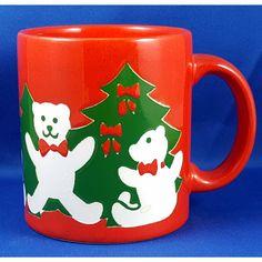 Waechtersbach Christmas Mug Red Teddy Bear Green Tree Germany NEW Gift Idea   eBay