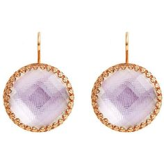Larkspur & Hawk Olivia 18K Rose Gold-Washed Button Earrings (1,505 CAD) ❤ liked on Polyvore featuring jewelry, earrings, 18k earrings, round earrings, 18 karat gold jewelry, 14k jewelry and 14 karat gold earrings