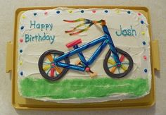 bicycle birthday cake