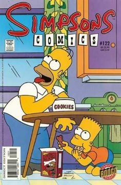 Homer Simpson attempts to eat cookies, but finds them at all. Bart, while eating a cookie, handled Homer's hand a bone-shaped cookie.