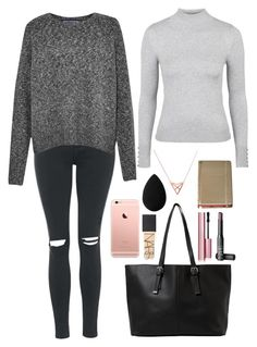 """""""Untitled #20"""" by t-k-amie on Polyvore featuring Topshop, French Connection, Kate Spade, MANGO, Dutch Basics, beautyblender, NARS Cosmetics and Too Faced Cosmetics"""