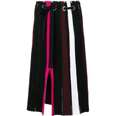 Proenza Schouler knit pleated skirt ($1,289) ❤ liked on Polyvore featuring skirts, colorful skirts, color block skirts, colorblock pleated skirt, block print skirts and multi color skirt