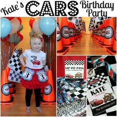 Kate's Cars-Themed 3rd Birthday Party | www.allthingsgd.com