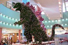 Godzilla tree in Japanese mall.