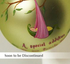 New Addition Peapod Ornament for Girl  Hand Painted and by SarEi, $26.00