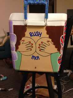 Fraternity Cooler, Pi Kappa Alpha, Cooler painting