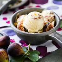 Roasted Fig and Goat Cheese Ice Cream