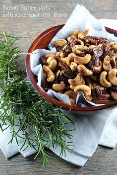 Authentic Suburban Gourmet: Brown Butter Nuts with Rosemary and Thyme
