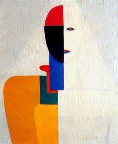 malevich female half-figure 1928-32. Казимир Малевич