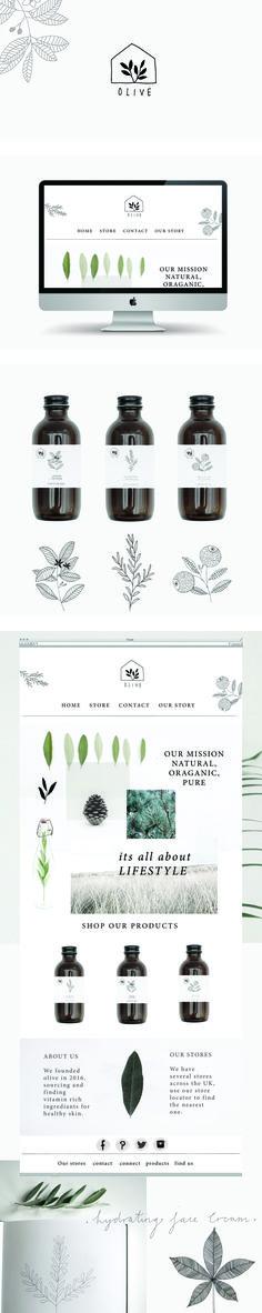 Olive branding and website by Ryn Frank www.rynfrank.co.uk