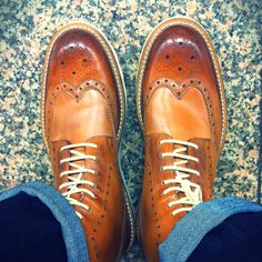 These shoes are made for walking and a little dancing - Ted Baker Wingtip Brogue Boots