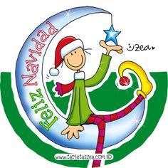 Imagen-de-navidad-Dejo por aquí una estrella que ilumine tu navidad © ZEA www.tarjetaszea.com