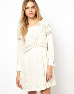 BA&SH Dress in Cut Work Broderie, find at Asos $419.19