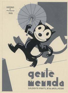 """Gente Menuda"" Spanish magazine (March 5, 1933 - Cover illustration by López Rubio"