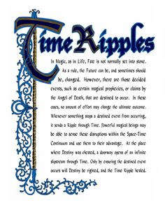 Charmed Series Book of Shadows: Time Ripples » Metaphysic Study