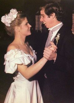 Victoria Gifford dancing with new husband, Michael Kennedy, March 14, 1981