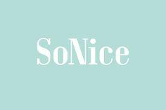 SoNice hairdressers logo by Erik Bertell